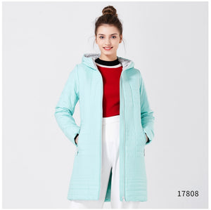 2019 Long Cotton Hooded Fashion Coat