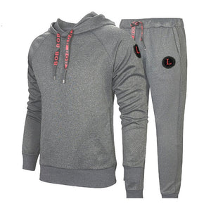 Men Hooded Tracksuit Set