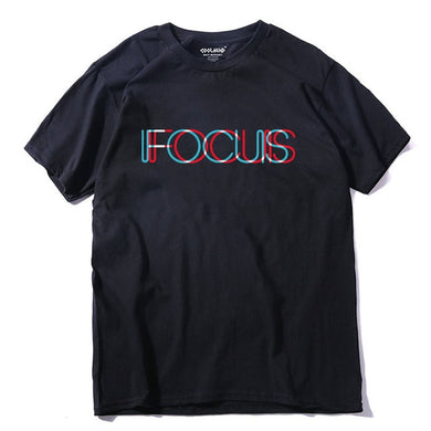100% Cotton short sleeve Focus printed funny