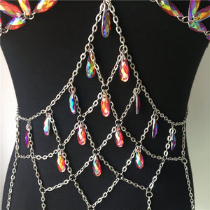 Festival Queen Bling Metal Tank Top