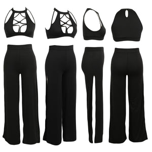 Turtleneck Sleeveless Two Pieces Set Outfit