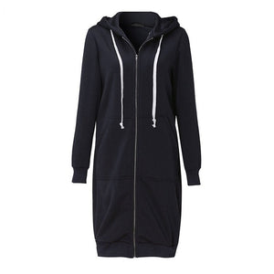 Casual Loose Zipper Plus Size Thick Hoodie Jacket
