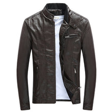 Load image into Gallery viewer, Faux Leather Jacket Thick Velvet