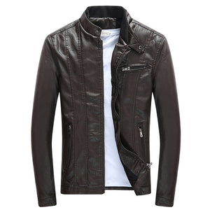 Faux Leather Jacket Thick Velvet