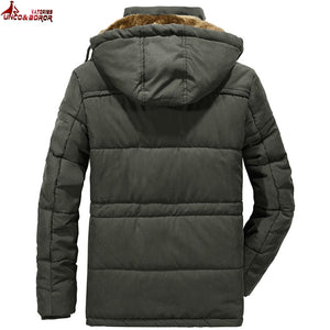 Breathable Winter Jacket Multi-pocket Hood Overcoat