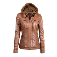 Load image into Gallery viewer, Slim Zipper Hooded Warm Coat