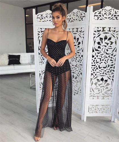 Elegant Long Mesh Summer Dress