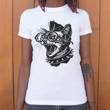 Load image into Gallery viewer, Punk Cat T-Shirt (Ladies)