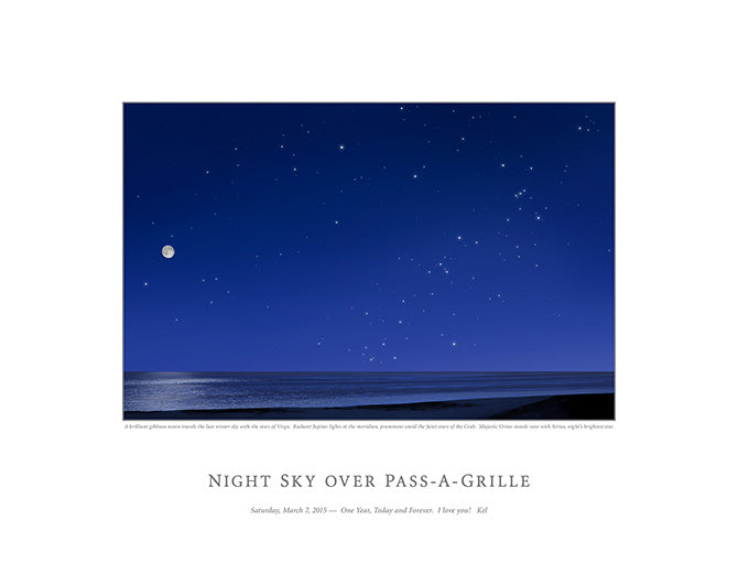 Night Sky Over Pass-A-Grille