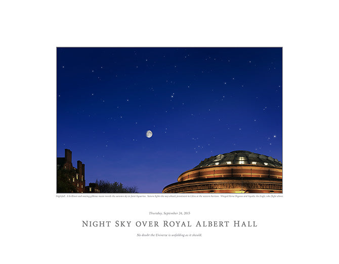 Night Sky Over Royal Albert Hall