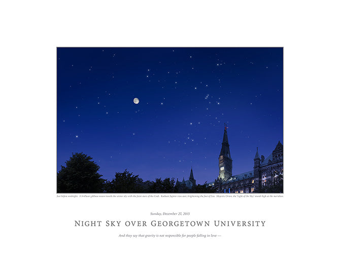 Night Sky Over Georgetown University