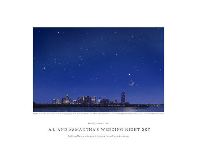 A.J. and Samantha's Wedding Night Sky
