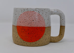 Flame Orange Dot Mug