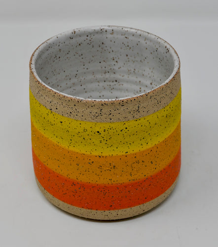 Small Sunny Stripe Pot