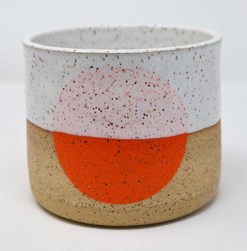 Orange Dot Pot