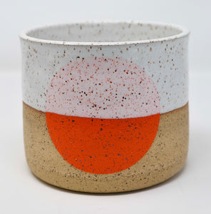 Medium Orange Dot Pot
