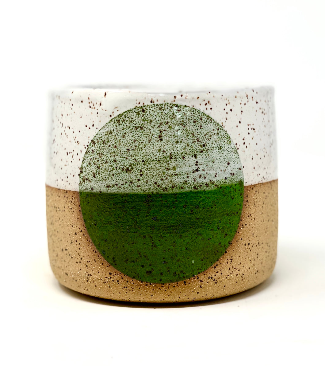 Small Green Dot Pot