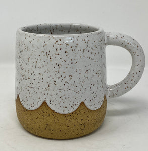 White Scalloped Mug