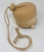 Unglazed White Stripe Bell