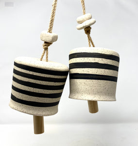 Speckled White and Black Stripe Bell - 3 stripe