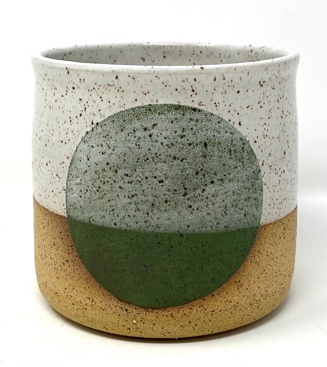 Medium Green Dot Pot