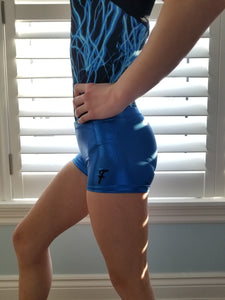 blue mystique shorts - gymnastic leotards, grips bags