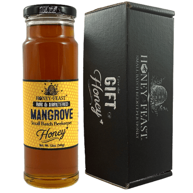 Mangrove Raw Unfiltered Honey-Mangrove Honey-Honey Feast-12 ounce honey gift-MG12-857598008280-Honey Feast