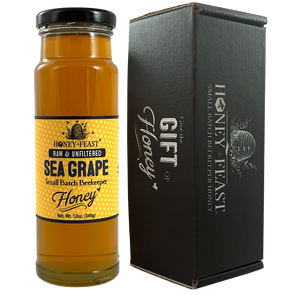 Sea Grape Honey Raw and Unfiltered-Sea Grape Honey-Honey Feast-12 ounce honey gift-SG12-857598008327-Honey Feast