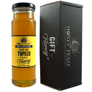 Tupelo Honey Raw-Black Gum Tupelo-Honey Feast-12 ounce honey gift-BG12-857598008358-Honey Feast