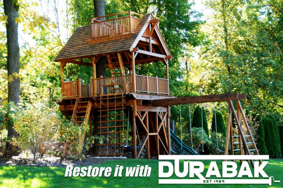 How to Restore an Old Wooden Playset | Swing Set Restoration