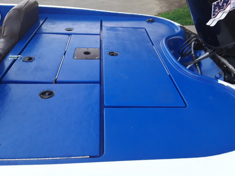 dark Blue Durabak Bass boat floor