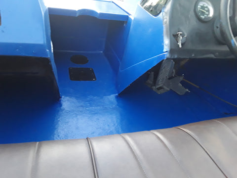 dark blue durabak boat floor paint