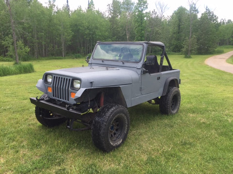 Jeep TJ Dark grey Durabak bedliner exterior full paint