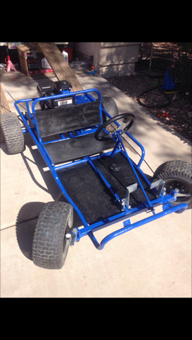buggy cart duraba dark blue frame bed liner
