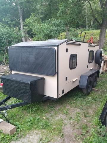 durabak textured black and sand camper