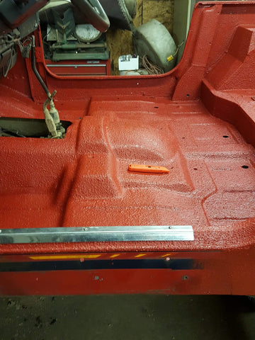Jeep tub durabak bed liner interior floor spray in