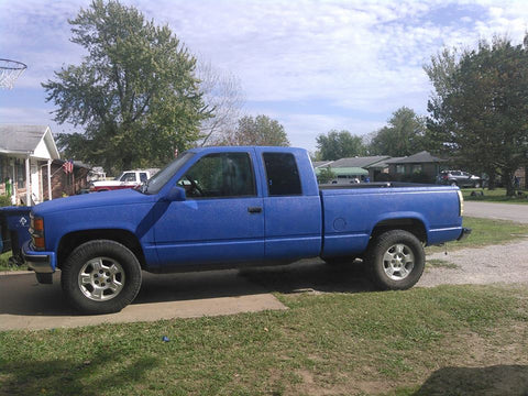 Dark Blue Bedliner full exterior paint truck