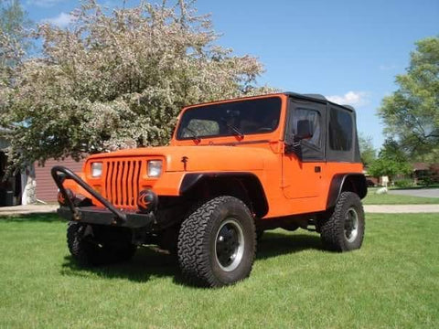 bed liner full coating orange Jeep