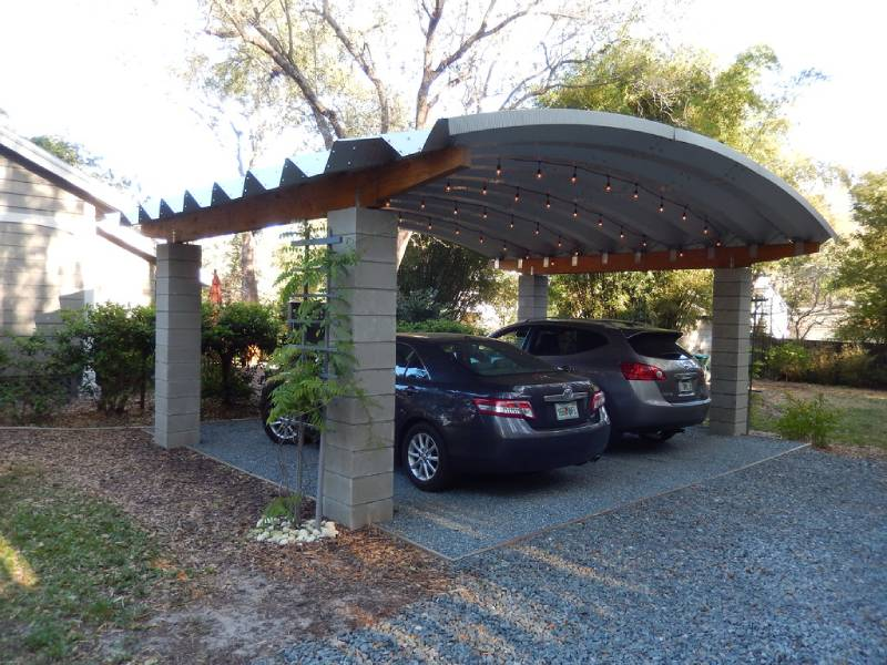 cars parked under carport