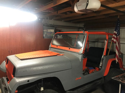 Jeep Dark grey and Orange Jeep