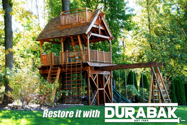 Restore your swing set with Durabak