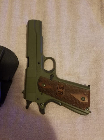 Olive OD Green Durabak painted Gun Handgun