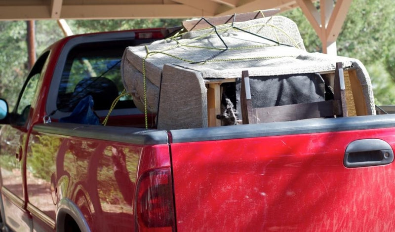 secure cargo in a pickup truck