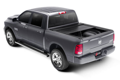 black retractable tonneau cover