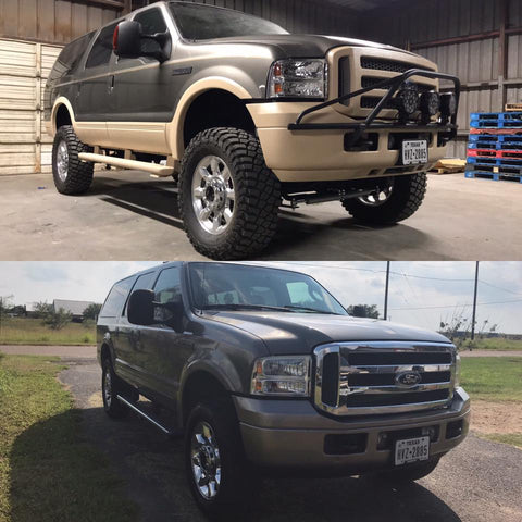 Before and After Smooth Cream Ford Bumper Sills