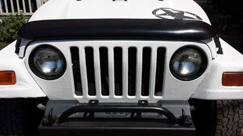 White Bedliner Jeep