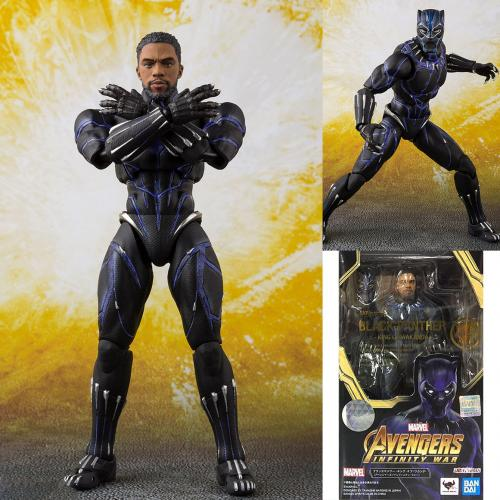 Bandai S.H.Figuarts Black Panther -King of Wakanad (Avengers 3) Action Figure