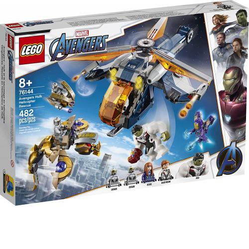 LEGO 76144 Marvel Avengers Hulk Helicopter Rescue Building Kit - Yasuee