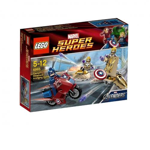 LEGO 6865 Super Heroes Captain Americas Avenging Cycle - Yasuee