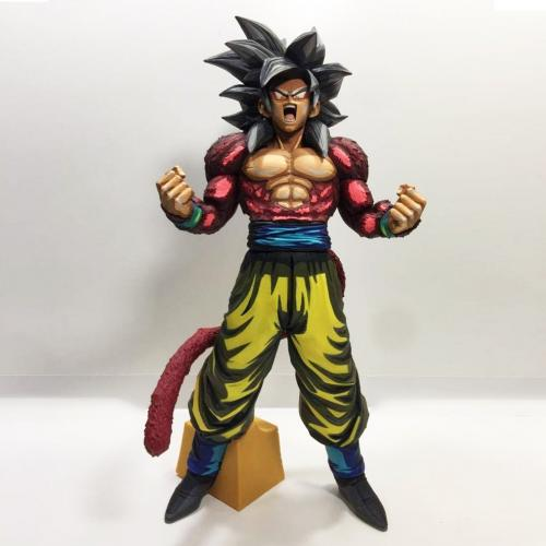 "Dragon Ball GT SMSP Son Goku Super Saiyan 4 SS4 Manga Dimensions 2D 13"" Figure - Yasuee"